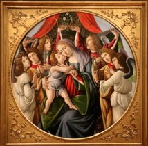Madonna and child with six angels, Sandro Botticelli and Workshop, circa 1500